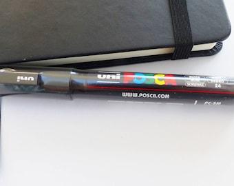 felt POSCA 1.8 - 2. 5 mm PCs 5 M medium point black marker tapered bullet number 24