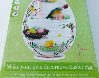Kit to create and decorate a large 28 cm MDF Easter eggs