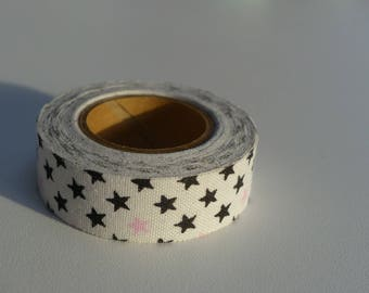 masking tape ruban sticker black and pink stars 3.50 meters