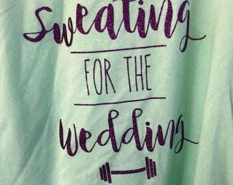 Sweating for the Wedding Womens Tank
