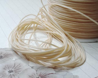 ☆ 1 m of nylon thread, bisque, 1 mm☆