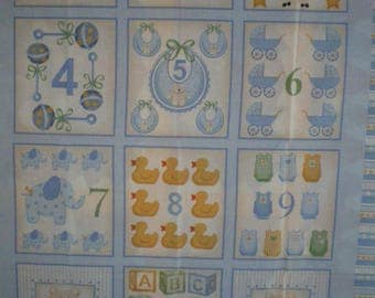 Baby Blue quilt Panel