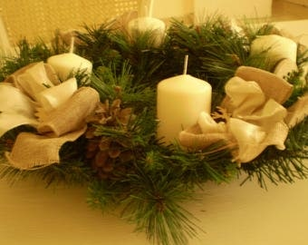 Christmas Centerpiece Candles
