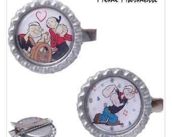 """Popeye"" metal hair clip"