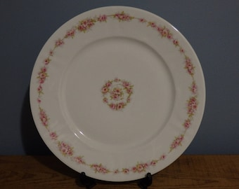 Set of 4 Theodore Haviland Limoges France Patent Applied for Dinner Plates,Pink Floral Pattern,Vintage China,Wedding China