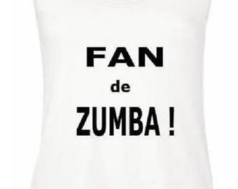 Zumba fan, show it! Sleeveless tank top