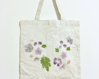Hand Hammered Flower Tote Bag