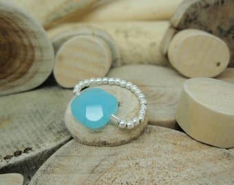 """Ring """"Square bead"""" turquoise"""