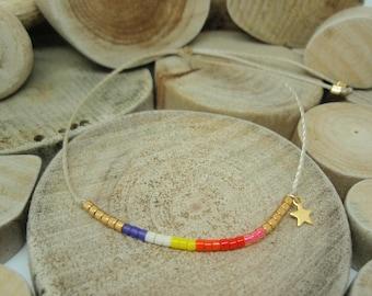 "Bracelet ""Miyuki Rainbow"" Mia"