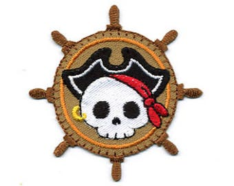 patch fusible pirate skull