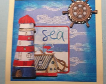 Card 3D sailor to customize theme