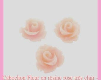 Resin flower cabochon Rose - 10 mm - 10 pcs - new
