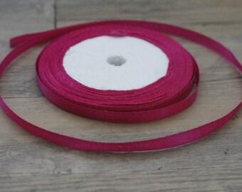 20 m in fuchsia pink satin ribbon plain 6mm