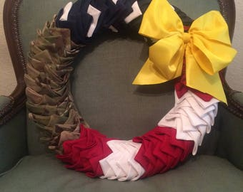 US Army Support Our Troops Wreath