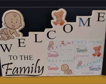 Welcome To The Family Custom Photo Frame