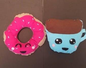 Kawaii Coffee and Donut Plushie