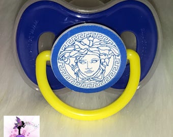 Blue  Pacifier | Custom Baby Pacifier | Baby | Designer Inspired  Binky | Customized Pacifier/Binky