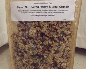 Gluten Free Handmade GRANOLA - Pecan Nut, Salted Honey and Seeds