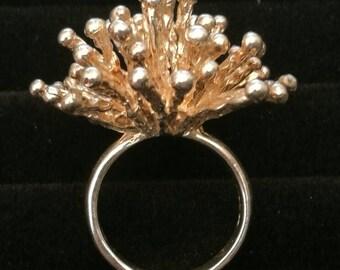 Starburst Sterling silver ring