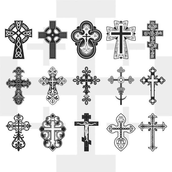 Decorative Cross SVG Cross Vector Cross Clip Art Cross