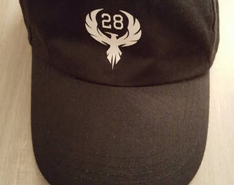 One size unisex Phemix28 black cap