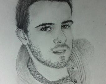 Drawing portrait from photo