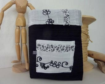 Velvet gift box black and white-