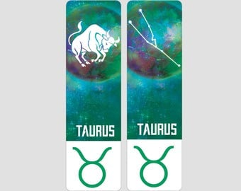 Taurus Zodiac Sign Indestructible waterproof bookmark