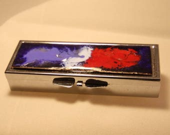 3 rectangular compartment pill box