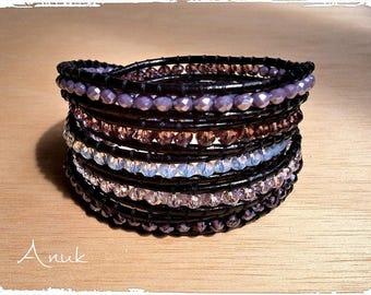 Anuka bracelets in Crystal.