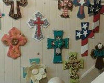 Variety of custom made wall crosses