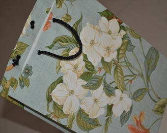 Light green color handmade paper bag...