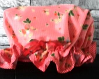 Strawberry home sewn shower cap