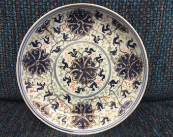 Antique pair of Guangzhou plates