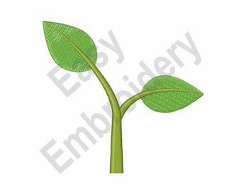 Seedling Plant - Machine Embroidery Design