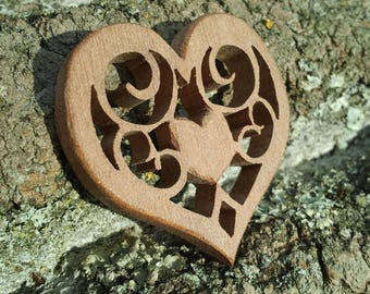 Exotic wooden heart.