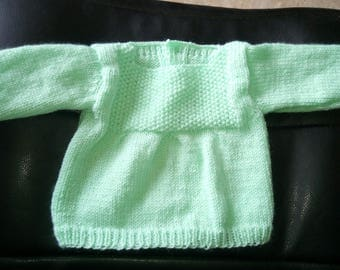 Lime green newborn baby pullover