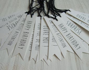 Set of 20 tags (white) gift Tag