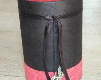 Pencil holder (No. 167) black & pink intense