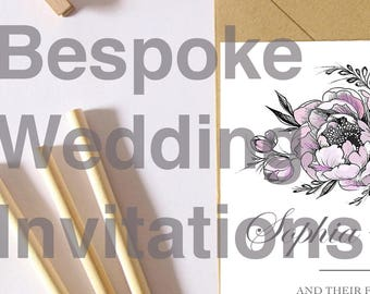 Want bespoke wedding invites made specially for you?