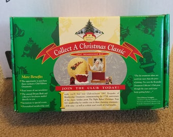 1997 Hallmark Collectors Club Membership Kit 4 Club Exclusive Ornaments