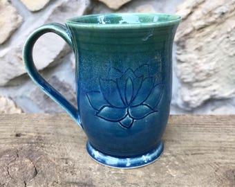 Small Blue 8 oz Mug