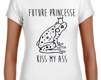 women future Princess, 100% cotton, classic cut, white