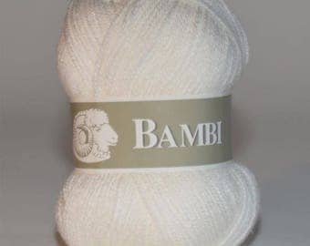 Ball of yarn Bambi special baby white