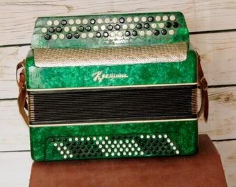 Accordion Kremennaya Kreminne vintage made in USSR GOOD condition!
