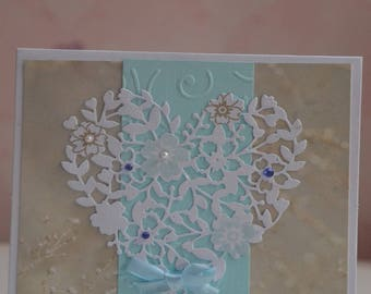 Card any occasion engraved heart