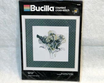 "Bucilla Counted Cross Stitch Kit ""Broccoli"" 