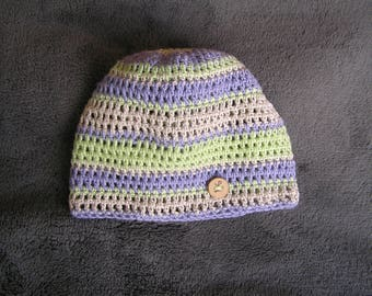 Women and teens for summer green pastel purple cream Hat