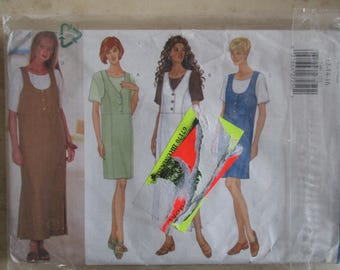 easy vintage pattern dress pinafore and blouse size 40, 42, 44 Butterick