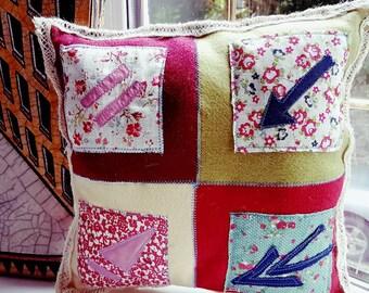 Handmade rustic cushion